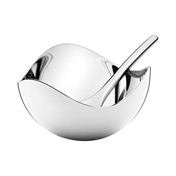 Georg Jensen BLOOM Salt Cellar With Spoon