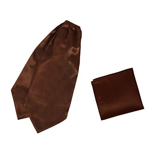 Dan Smith C.C.AQ.E.029 Brown Solid Microfiber Fantastic Shopstyle Ascot Matching -