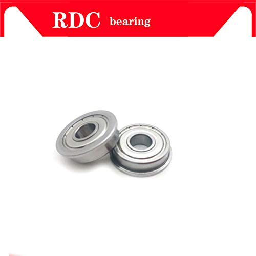 Ochoos 5 pcs ABEC-5 F6001ZZ F6001 ZZ F6001 12288 mm 12x28x8 mm Metal Double Shielded flanged Bearing Ball Bearings Length: ABEC 5