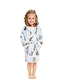 Girls Disney Frozen 2 Sleep Robe - Girls Fleece Hooded Bathrobe-6X