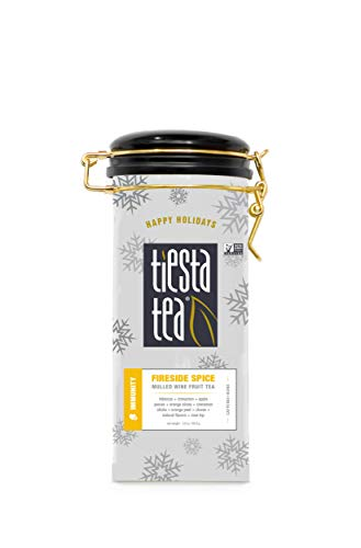 Tiesta Tea Fireside Spice, Mulled Wine Fruit Tea, 50 Servings, 5 Ounce Tin, Caffeine Free, Loose Leaf Herbal Tea Immunity Blend, Non-GMO - Tin Gypsy Zhena