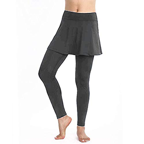 FIRERO Women's Casual Skirt Leggings Yoga Pants Sports Fitness Culottes ()