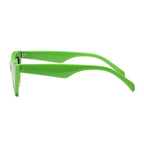 Cat Aiweijia sunglasse Eyewear Retro Frame Mujeres Plastic Goggles Verde Eye Vintage Pequeñas w7g71XS