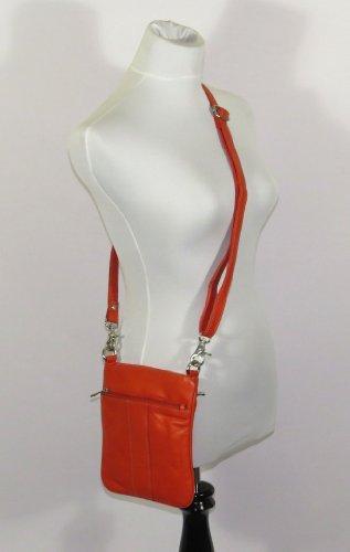 Bag Genuine Crossbody Women's Yellow PieLino Leather 40113 6q8Fw