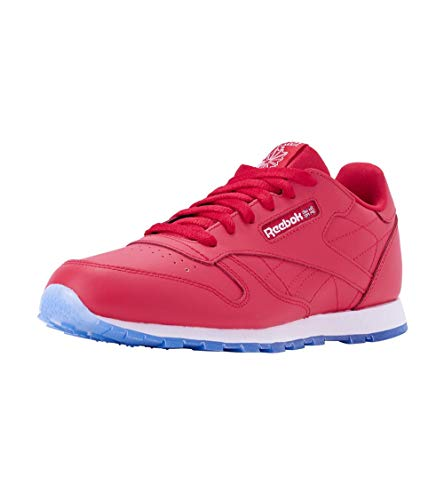 Reebok Kids Classic Leather Ice Sneaker Red 5.5Y