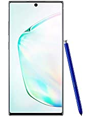 Samsung Galaxy Note 10+ Plus Factory Unlocked Cell Phone with 256GB (U.S. Warranty), Aura Glow (Silver) Note10+