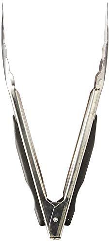 HG HGROPE Good Grips 9-Inch Stainless-Steel Locking Tongs, Black