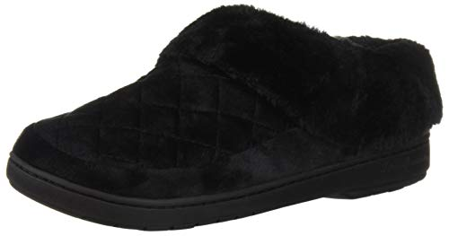 Velour Black Dearfoams Slipper Clog Women's T45wYqa