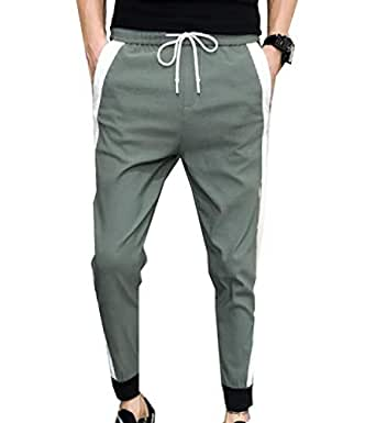 neveraway Mens with Pockets Slim-Tapered Casual Drawstring Sports Sweatpant Army Green 25