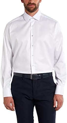 Eterna Long Sleeve Shirt Comfort FIT Twill uni White