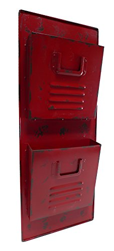 Cheung's FP-3198R Wall Locker Metal Mail Holder| Red