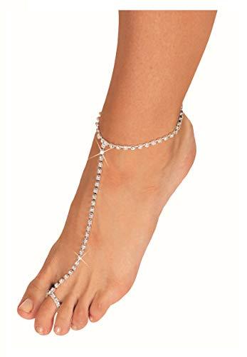 - Arsimus Rhinestone Stretchy Slave Tennis Ring Anklet
