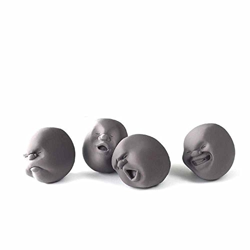 4 PCS Vent Squishy Ball Toy Human Facial Expression Face for Kids (Generic Stress Balls)
