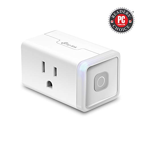 TP-Link HS103 Kasa Smart Plug Lite 12 Amp & Reliable Wifi Connection, Compact Design, No Hub Required, Works With Alexa Echo & Google Assistant, 1-Pack, WHITE