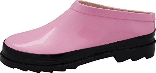 for amp; Garden Womens Garden Clog Winter Rain Spring NORTY Ladies Pink Boot Waterproof wYRq5vSSx