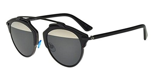Christian Dior Fashion Sunglasses - New Christian Dior SO REAL B0Y/MD black/grey silver mirror Sunglasses