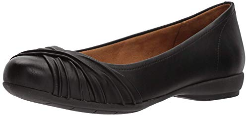 (Natural Soul Women's Girly Loafer Flat, Black35, 8 M)