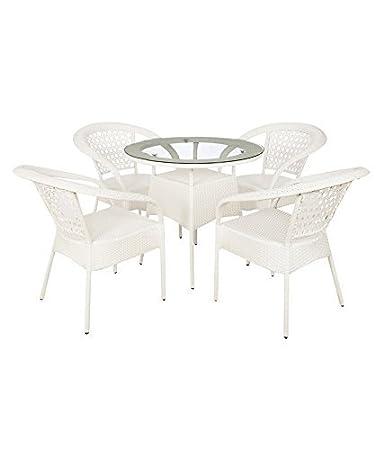 Mavi Furniture White Outdoor Set