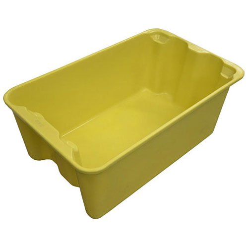 Molded Fiberglass Toteline Nest and Stack Tote 7804085126 - 20-1/2'' x 12-7/8'' x 8'',Yellow - Lot of 10