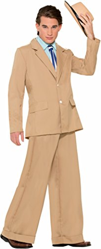 Forum Novelties Men's Roaring 20's Gold Coast Gentleman Costume Suit, Tan, X-Large -