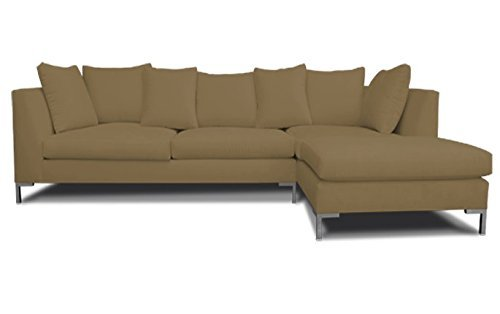 Decenni Right Arm Chaise Facing Divina Modern Sectional Sonoma Taupe