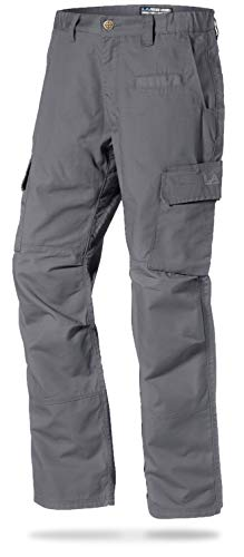 - LA Police Gear Mens Urban Ops Tactical Cargo Pants - Elastic WB - YKK Zipper - Grey - 42 X 30