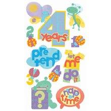 EK Success Vellum Stickers - 4 Years Old