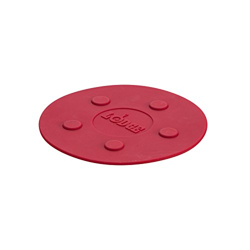 Lodge ASLMT41 Silicone Magnet Trivet, 8-inch, Red ()