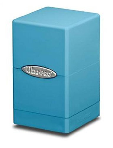 1X ULTRA PRO LIGHT BLUE Satin Tower Deck Box MTG MAGIC the Gathering POKEMON Holds 100 Cards (Ultra Pro Mtg Pro Tower Deck Box)