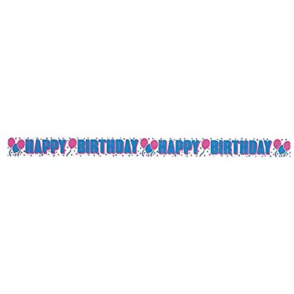 amazon com 30ft happy birthday crepe paper streamers childrens