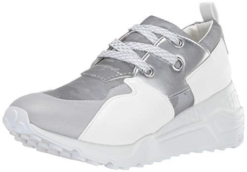 Steve Madden Women's Cliff Shoe, Grey Metallic, 6.5 M US -
