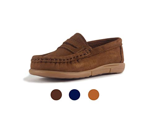 Subibaja Lello - Penny Loafer Moccasin for Baby Boys | Toddlers LB7.5T Light Brown