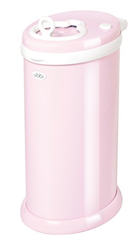 Ubbi Steel Odor Locking, No Special Bag Required Money Saving, Awards-Winning, Modern Design, Registry Must-Have Diaper Pail, Pink