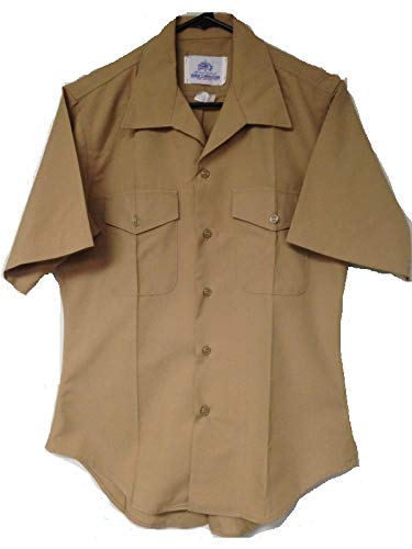 Wardog Surplus Previously Issued USMC Khaki Dress Shirt Size Medium 16 inch Neck Marine ()