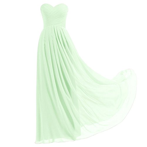 Lemai Criss Cross Long A Line Pleats Chiffon Corset Prom Evening Formal Bridesmaid Dresses Mint US22W