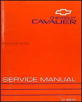 1993 Chevy Cavalier Repair Shop Manual Original