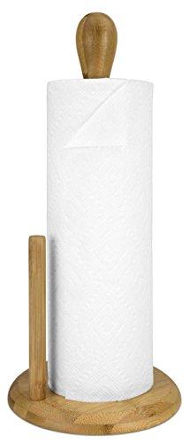 - Home Basics PH44544 Bamboo Paper Towel Holder, Natural