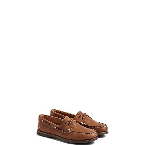Sperry Top-Sider Men's Gold A/O 2-Eye Moc Toe Boat Shoe,Tan/Gum Full Grain - Eye 2 Moc