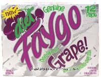 Faygo   Diet Grape Soda   12 Pack Of 12 Oz  Cans