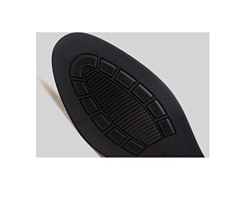 Tela Uomo Casual Scarpe Affari Colore Nastro in Sportivi Sandali Pelle Morbido Tondo Brown Stivali A Punta Stagione 7ABdA