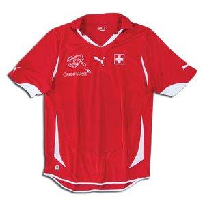 Amazon.com   World Cup Puma Switzerland Home Soccer Jersey 10 11 ... e72f03c93