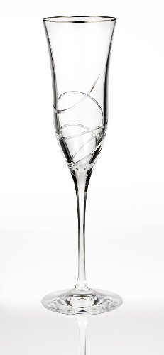Essence Champagne Glass - Waterford Ballet Ribbon Essence Platinum Champagne Flute