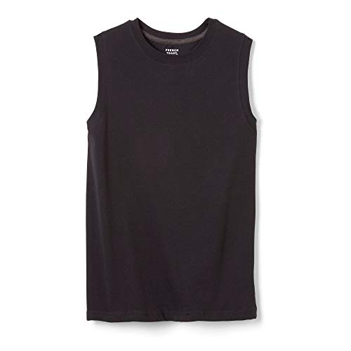 French Toast Boys'  Sleeveless Solid Muscle Tee, Black, XL (14/16),Big Boys