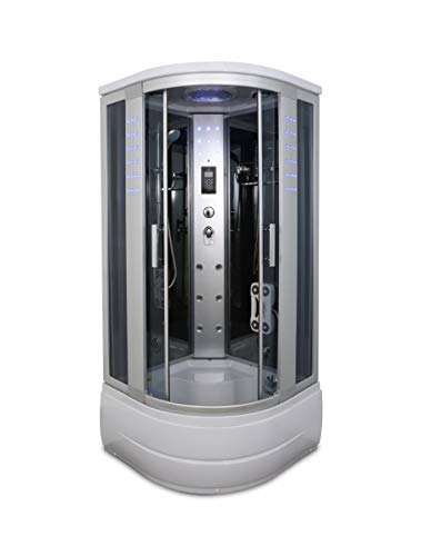 KOKSS 8004-A Corner Shower Enclosure with Powerful Hydro Massage Jets