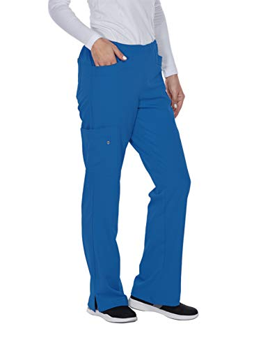 Medium New Scrubs Uniforms - Grey's Anatomy Signature Women's 5 Pocket Cargo Scrub Pant, New Royal, Medium
