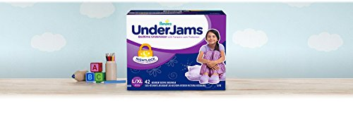 Pampers UnderJams Disposable Bedtime Underwear for Girls Size L/XL, 42 Count, SUPER by Pampers (Image #1)