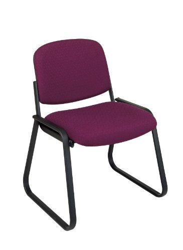 Deluxe Sled Base Armless Chair with Designer Plastic Shell Purple/Armless ()