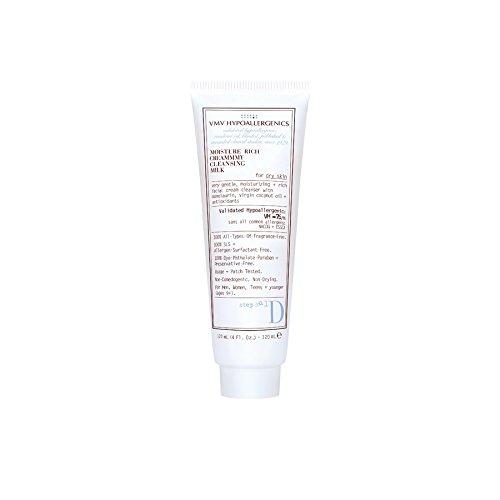 VMV Hypoallergenics Superskin Moisture Rich Creammmy Cleansing Milk for Dry Skin, 4 Fluid (Hypoallergenic Milk)