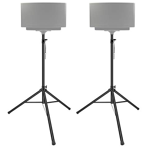 Neewer 2 Packs Pro PA Speaker Stand Pole-Mount Adjustable Height 6 Feet with Foldable Carrying Bag, Load Capacity up to 100 pounds/45 kilograms (NW-400L)