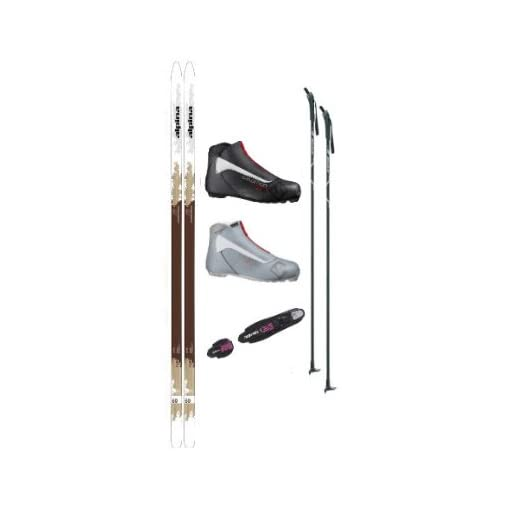 Alpina Control 60 Cross Country Ski Package (Skis, Boots, Bindings, Poles)